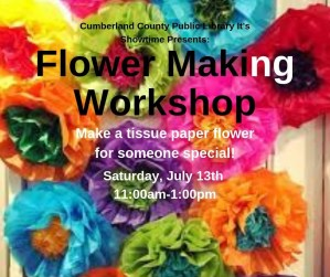 Flower Making Workshop @ Cumberland County Public Library