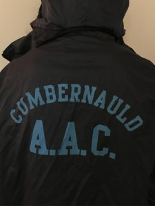 Photo of athlete wearing Cumbernauld Amateur Athletics Club jacket