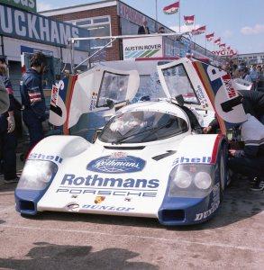 The race winning Porsche 956 of Jochen Mass and Jackie Ickx