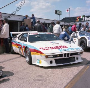 Rolf Goring BMW M1 driven by Hans-Georg Durig, Rolf Goring and Mario Ketterer