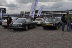 A gaggle of Gordon Keebles at Donington Historic Festival