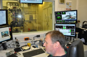 Inside the BS Motorsport dyno control booth - Neil Bainbridge at the helm