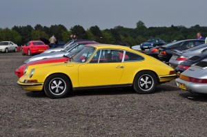 My 911 parked amongst Porsche Club GB cars on the inside of Redgate Corner