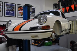 Freshly restored Early 911 race car