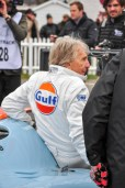 "Derek Bell squeezes into his 917 ""office"""
