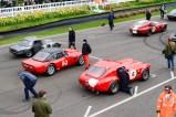 Lotus Elan, Ginetta G10 and AC Cobra's on the grid