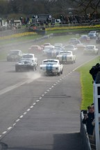 Tyre-smoking start of Graham Hill Trophy race