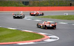 LMP1 and LMP2 cars battling it out