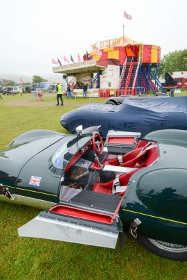 Unusual doors provide access to the Lotus XI Le Mans