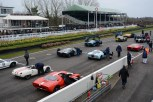 GT40's on the grid with the '60 to '66 racers