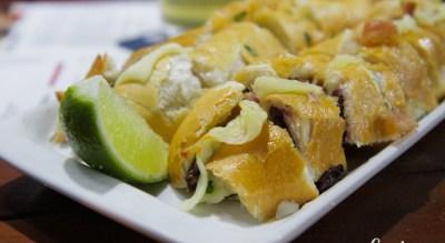 Francisco Glicério: delicioso lanche de pernil, queijo, bacon, azeitonas pretas e vinagrete