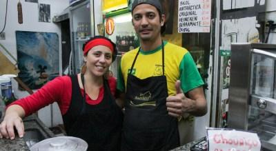 Mari e Pipo (Felipe) o casal que capitaneia o Bar do Pipo
