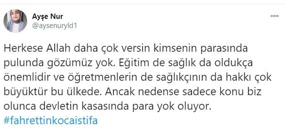 <p>Sağlık Bakanı Fahrettin Koca'nın sosyal medya üzerinden, istifa etmesi istendi.<br></p>