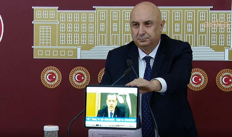 CHP'li Özkoç, TBMM'de Erdoğan'ın 'yayınlayacağım' dediği videolarını izletti