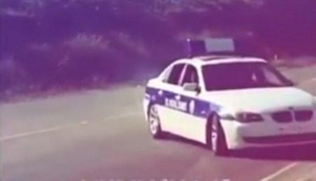 """Yol polisi maşını ilə """"avtoş""""luq etdilər – VİDEO"""