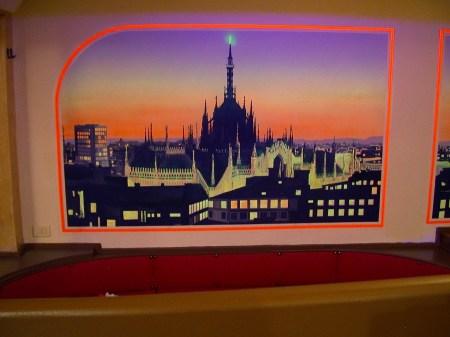 Milan View Mural Painting