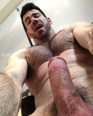 100 penis beauty hairy bloke shows his amazingly thick fat stocky wanking cock penis dick suck Immaculate-Cockception-10