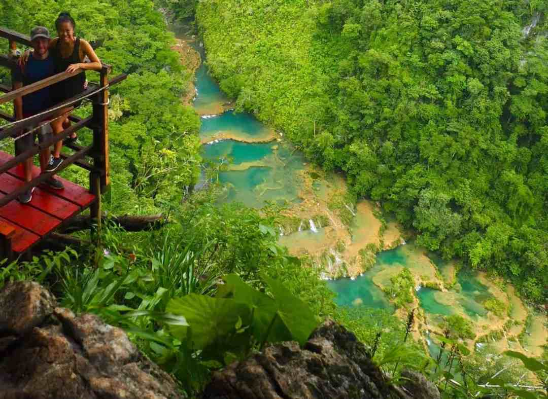 The view from up top of Semuc Champey