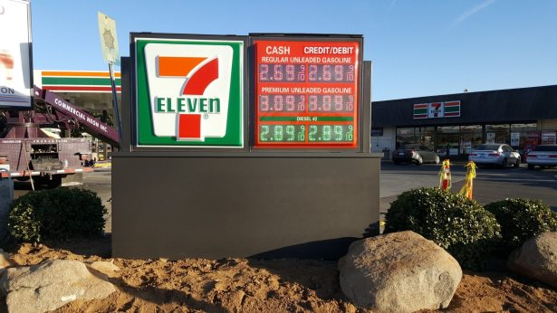 7-Eleven Monument with pricer