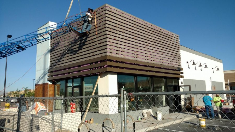 Taco Bell Slat Wall Installation