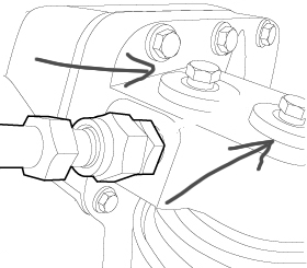 Function of the two ports on the top of the oil filter