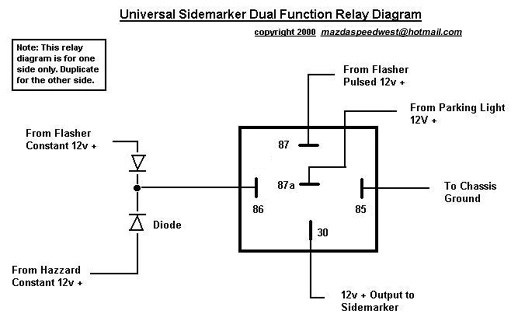 12v Auto Relay Wiring Diagram 12v Relay Wiring Diagram 5 Pin