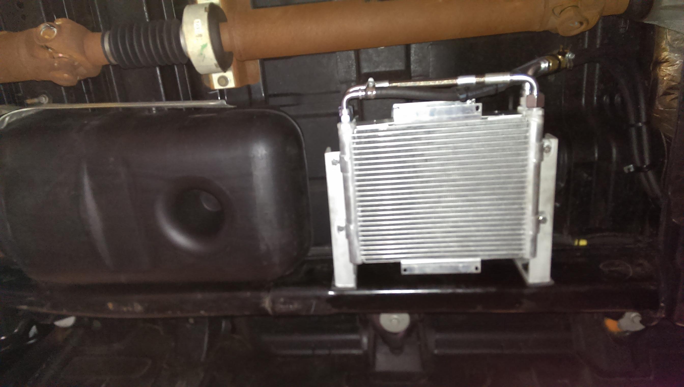 BD Dual Stacked Xtrude Trans Cooler Install  Dodge Cummins Diesel Forum