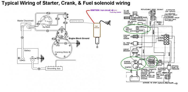 Yanmar Fuel Shut Off Solenoid Wiring Diagram
