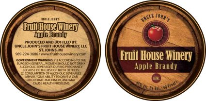 Apple Brandy label