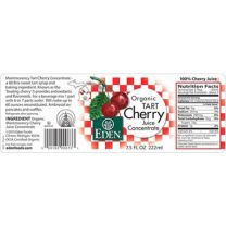 Eden Organic Tart Cherry Juice label