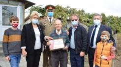 Ion Ceapa, singurul veteran de război din Cumpăna rămas în viață. FOTO Primăria Cumpăna