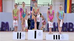 Gimnaste de la CS Victoria Cumpăna, medaliate la un concurs la Ghimbav. FOTO Primăria Cumpăna