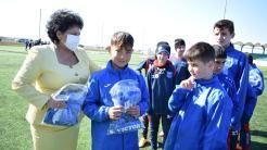 Echipamente de joc pentru fotbaliștii din Cumpăna. FOTO Primăria Cumpăna
