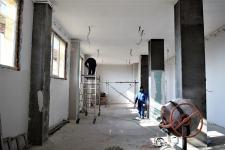 Lucrări în plină desfășurare pentru modernizarea Centrului Cultural de Tineret. FOTO Primăria Cumpăna