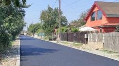 Asfaltări în comuna Cumpăna. FOTO Primăria Cumpăna