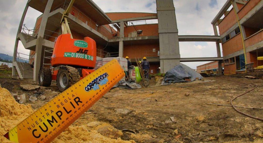 Megacolegio El Rosal Cundinamarca obra entrega julio