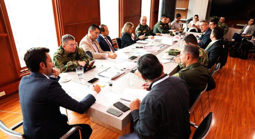 Consejo de Seguridad libre derecho a la protesta presidido por el Gobernador de Cundinamarca.