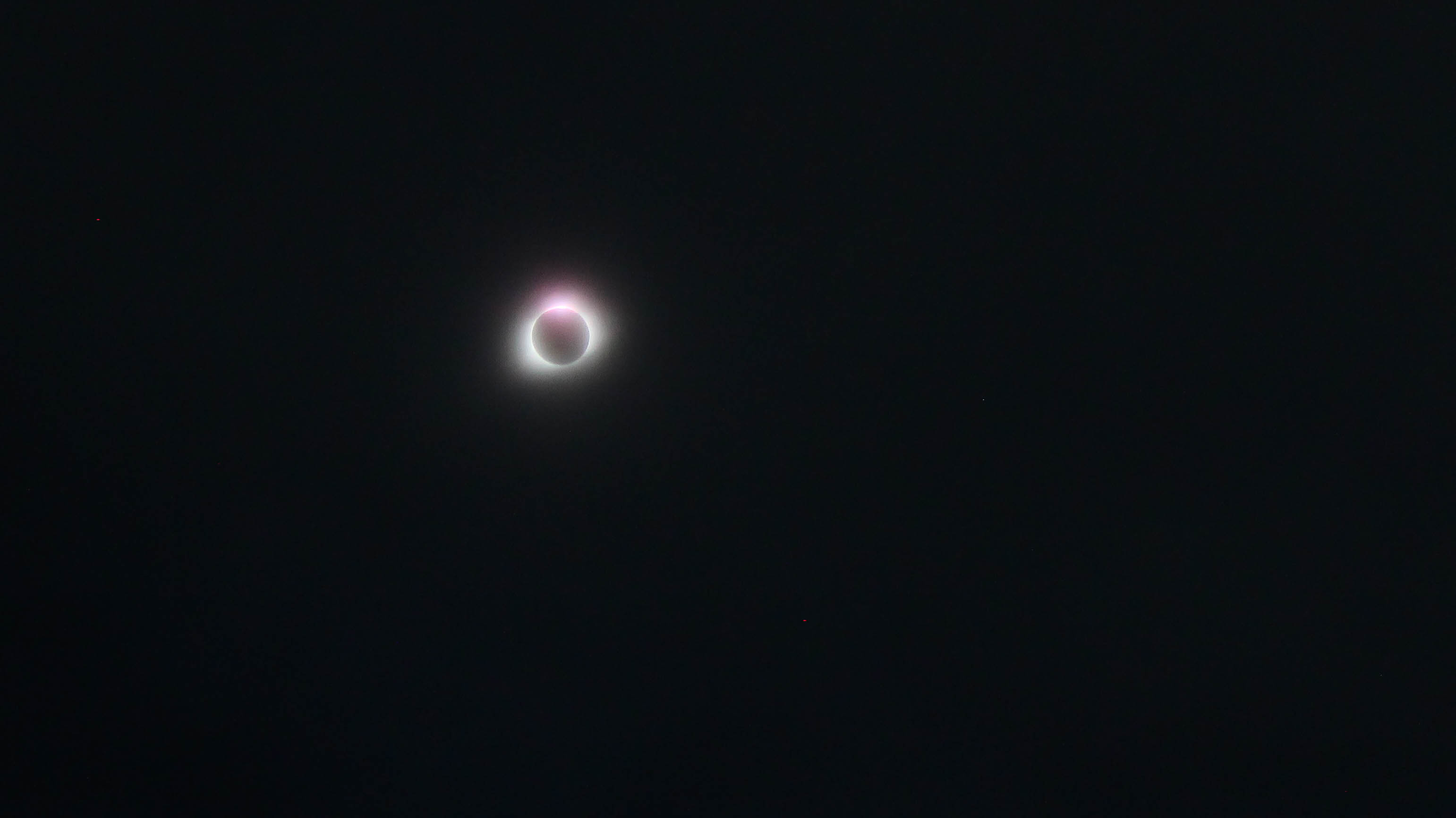 Clouds Clear To Reveal Total Solar Eclipse