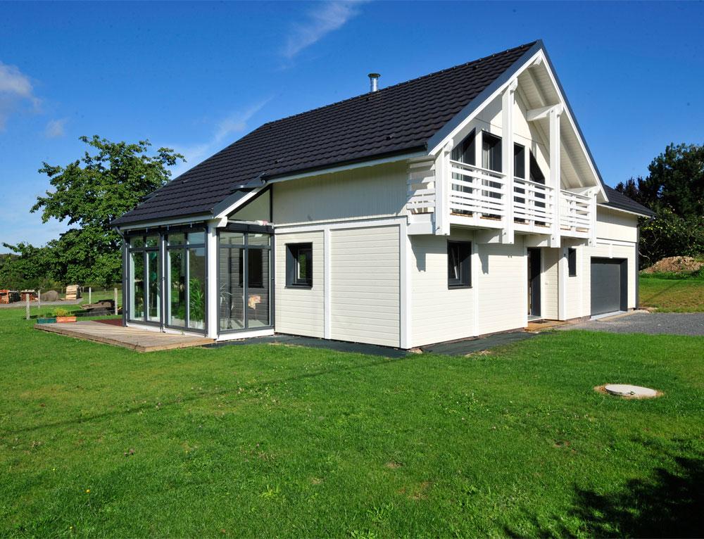 Maison bois luminance avec vranda Nos maisons ossatures bois Maison 2 pans