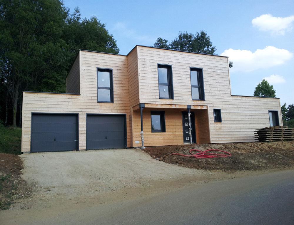Maison bois cubique  toit plat Nos maisons ossatures bois Maison cubique
