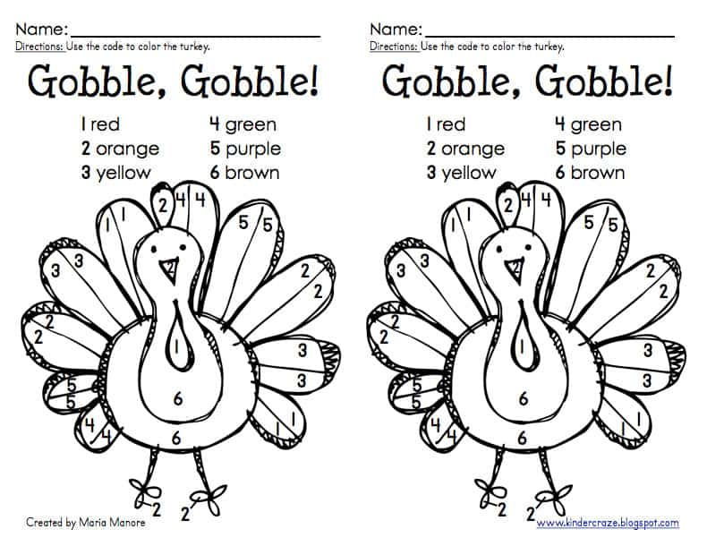 15 Free Kids Thanksgiving Activity Sheets & Coloring Pages