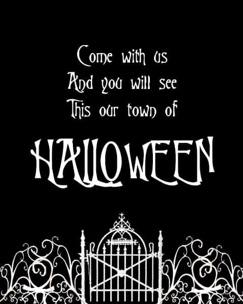 free halloween town printable