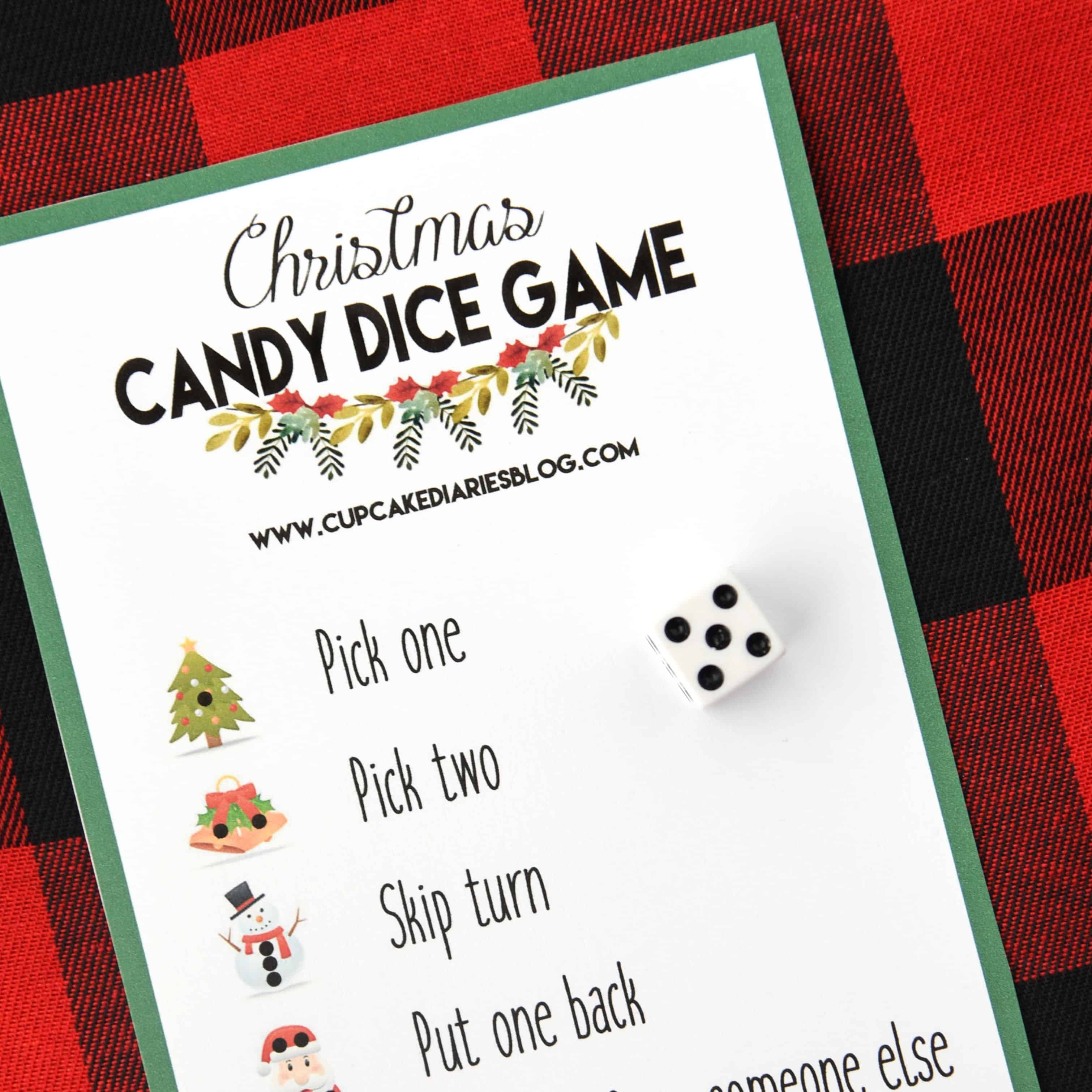 christmas candy dice game