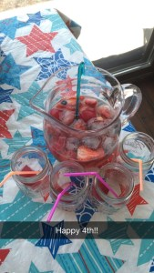 Red, White & Blue Sangria Cupcakendreams