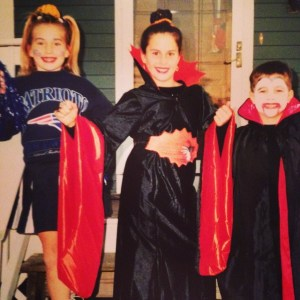 #fbf my sister, brother and I in RI for Halloween one year