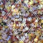 Fall Season Goals 2016