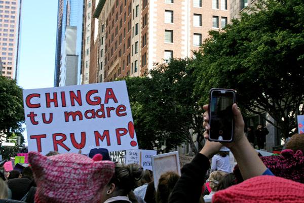 Women March Los Angeles Photos change tu madre trump