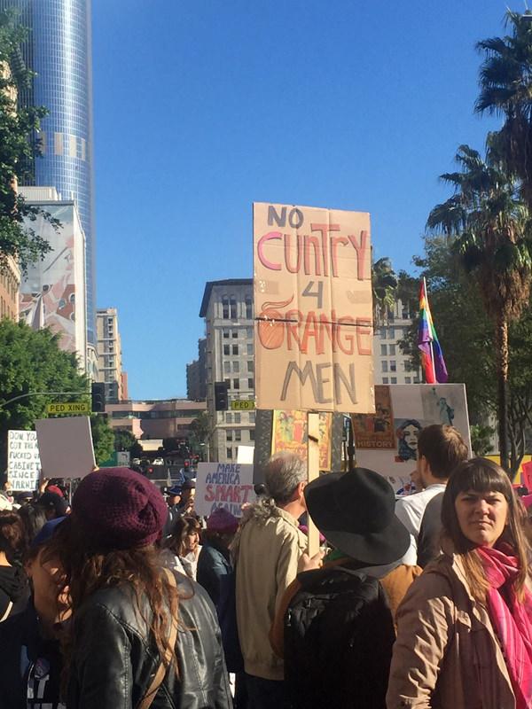 women march Los Angeles