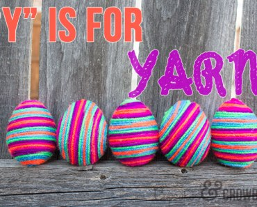Quick & Easy Yarn Eggs - Easter Decor from Cupcakes&Crowbars | www.cupcakesandcrowbars.com @cupcakescrowbar