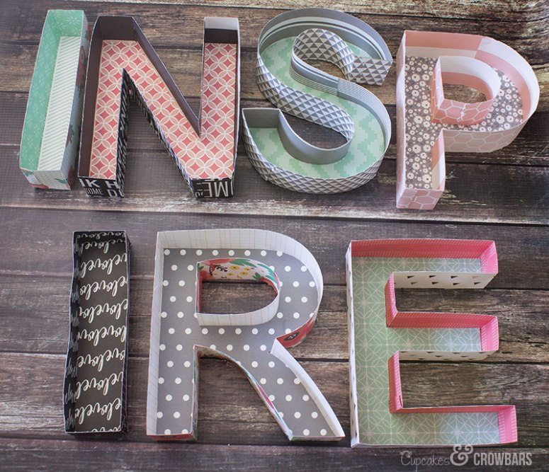 Three Dimensional Inspire Wall Art | Cupcakes&Crowbars